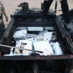 Contraband smuggled in tar trailer