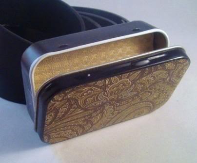 Secret Compartment Mint Tin Belt Buckle