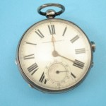 Pocket watch with hidden miniature pistol