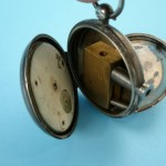 Secret gun hidden in antique pocket watch