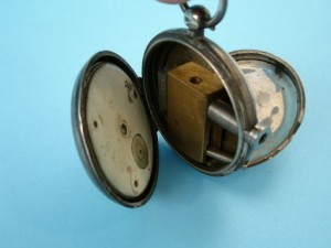 Secret gun hidden in antique pocket watch