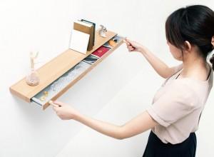 Hidden Compartment Drawer in Book Shelf