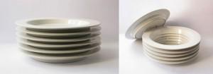 Ceramic Plates Secret Compartment
