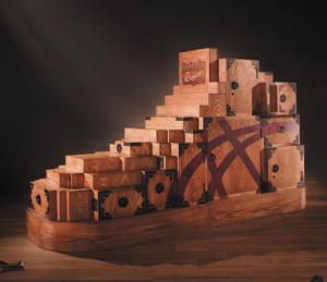 Wooden Furniture Tansu Hidden Compartment Box