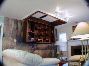 Hidden and Secure Ceiling Gun Storage