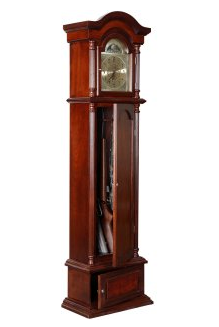 Grandfather Clock with Concealed Gun Cabinet