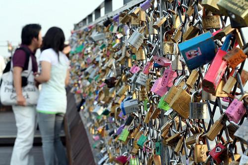 Locked Fence in South Korea