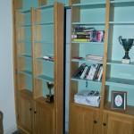 Hidden bookshelf door in library