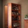 Hidden Bookshelf Door to Staircase