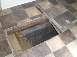 Trap Door in Floor to Crawlspace