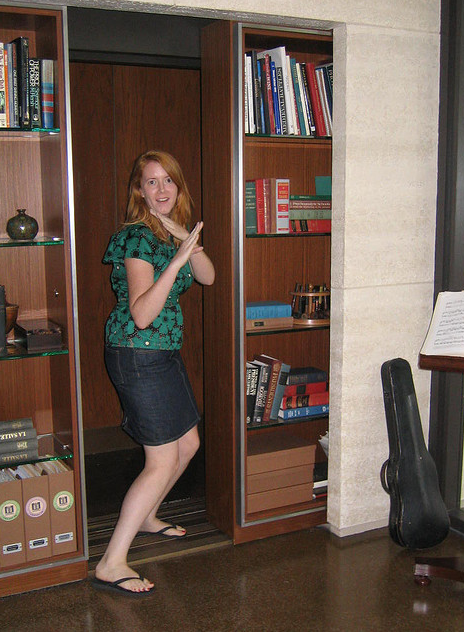 Moving Bookcase Door Elevator