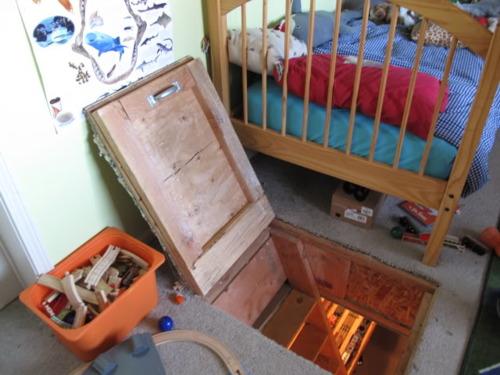 Trap Door To Secret Toy Train Room
