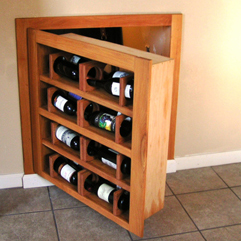 Custom Wine Rack Secret Door