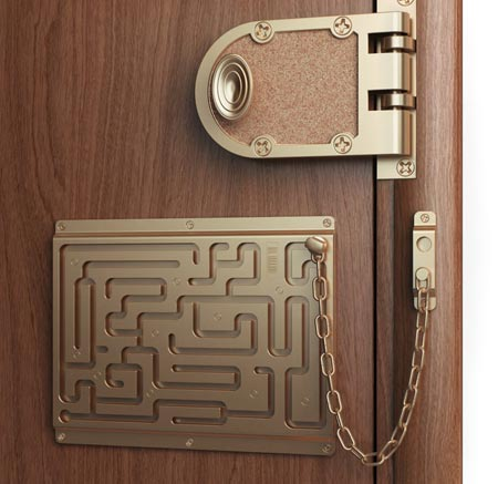 Door Lock Chain Maze Joke