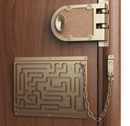 Defendius Door Chain Lock Maze Stashvault