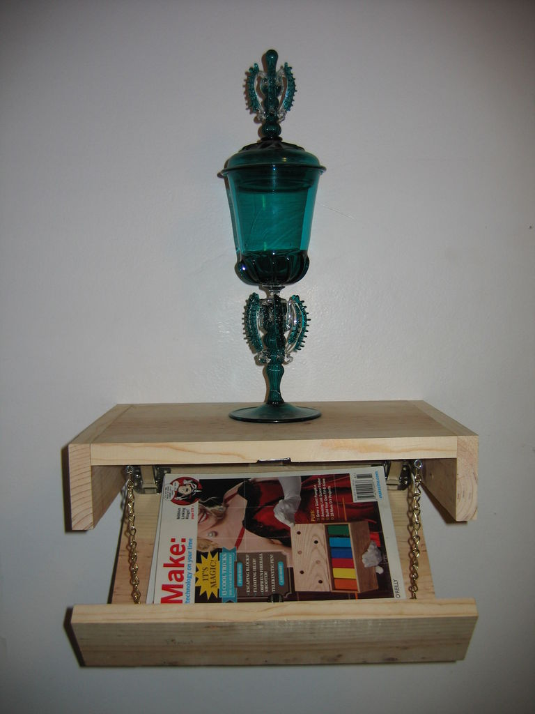Floating Shelf With Secret Compartment