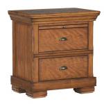 Secret Sliding-Top Compartment in Wooden Nightstand