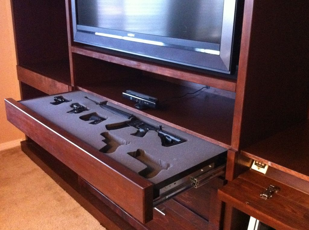 hidden gun drawer safe stashvault
