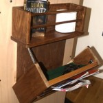 Secret Gun Compartment Magazine Rack