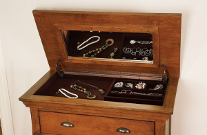 Hidden Jewelry Compartment in Dresser