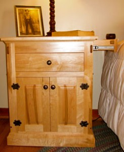 End Table with Hidden Side Drawer