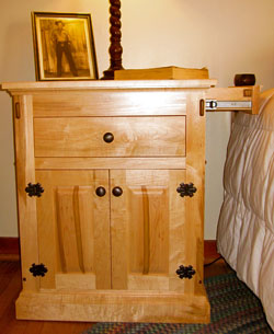 Nightstand with Secret Drawer Compartment