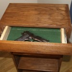 Hidden Firearm Compartment Drawer in Bookshelf