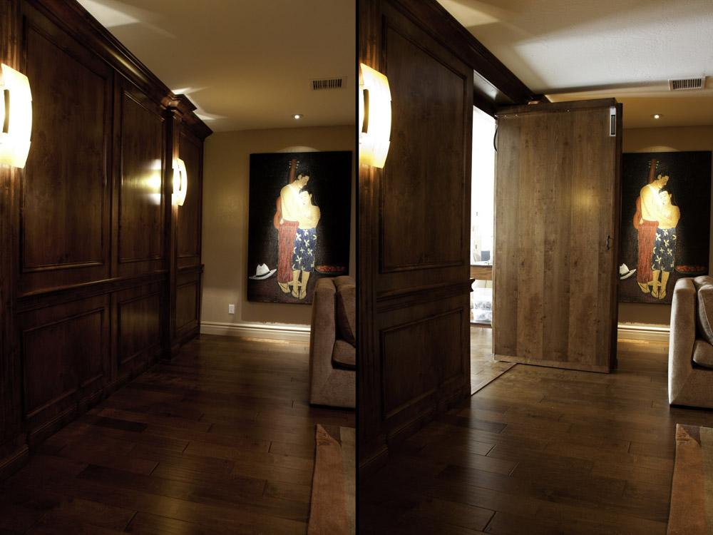 Secret Door In Wall Panel Stashvault