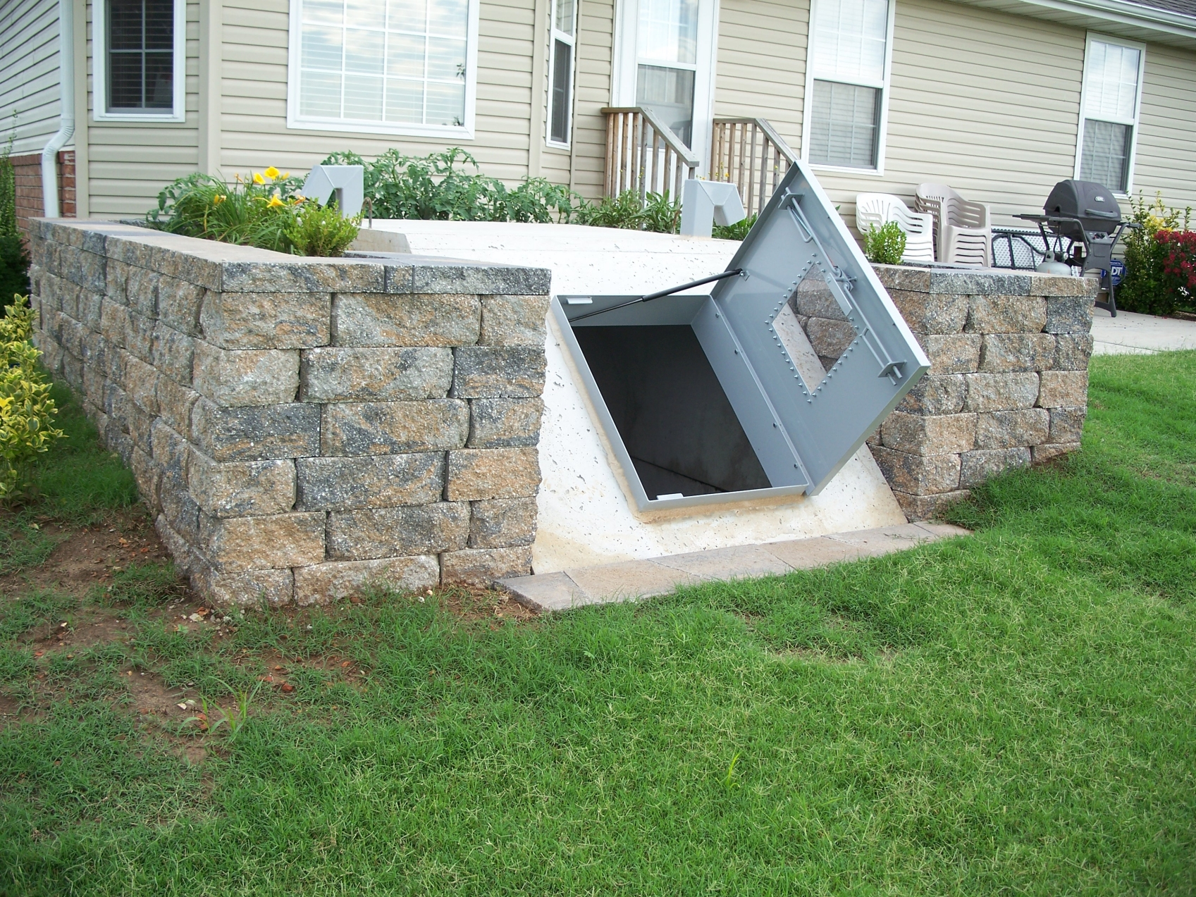 Underground Storm Shelter Entrance