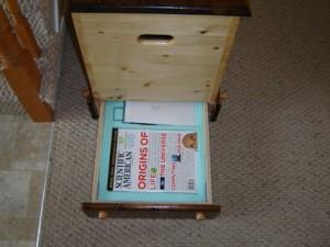 Hidden Drawer in Bottom of Toy Box