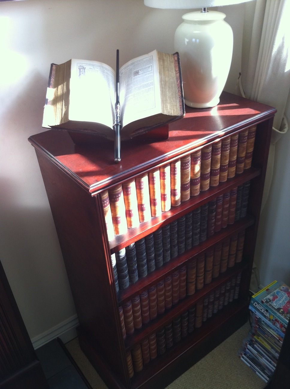 Hidden Bookcase Compartment Counter