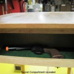 Gun Hidden in Stash Compartment