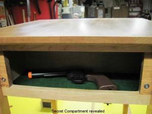 Secret Gun Compartment In Table Stashvault