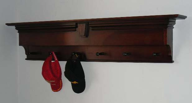 Custom Wall Shelf And Coat Rack Stashvault