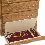Lockable Hidden Compartment in Bottom of Chest