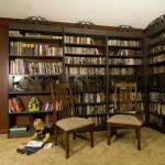 Secret Door Behind Sliding Bookshelves