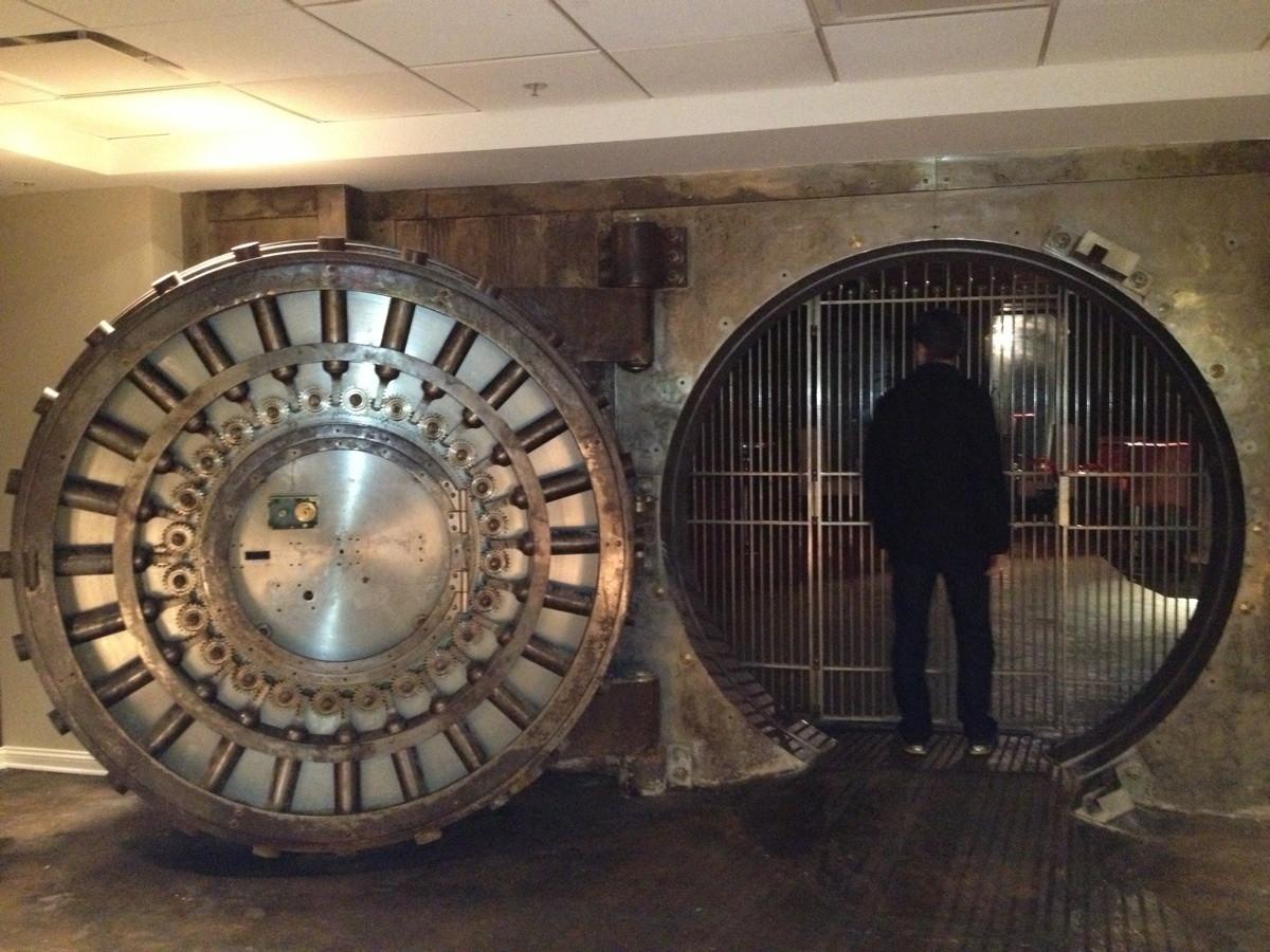 Bank Vault Door in Apartment Building