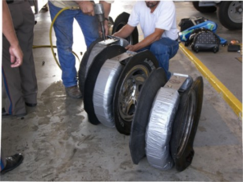 Drugs Smuggled in Vehicle Wheels
