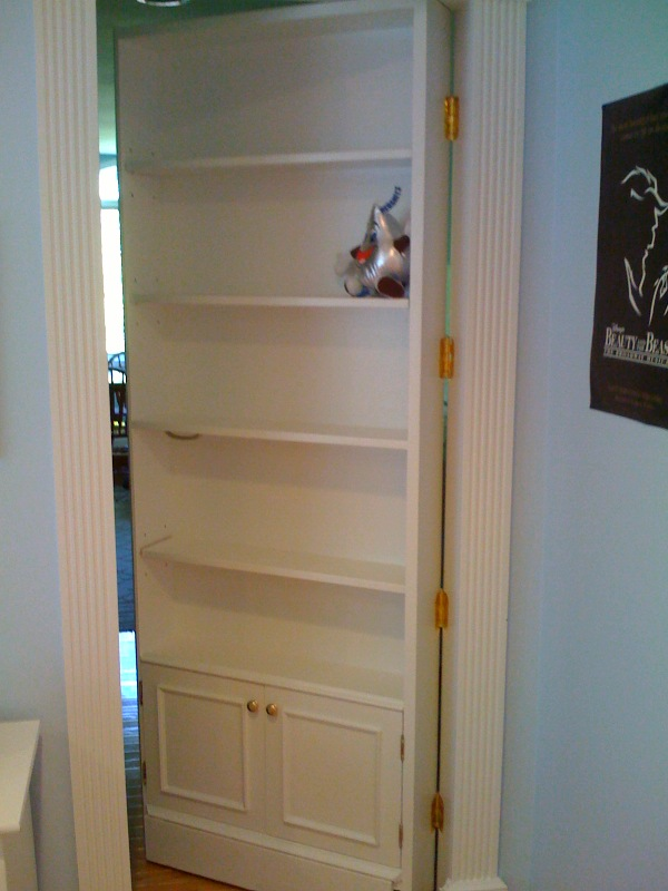 Secret Bookcase Door for Pinterest