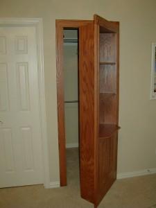 Bookshelf Door to Secret Closet Room