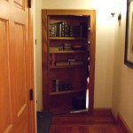 Hidden Bookshelf Door to Secret Library