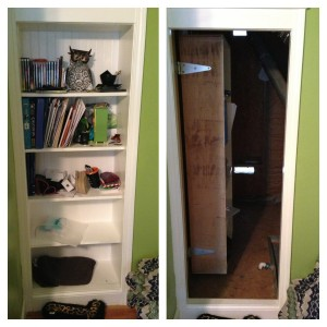 Hidden Utility Room Behind Bookcase Door