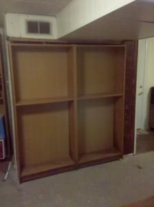 Hidden Furnace Closet Behind Bookshelf Door