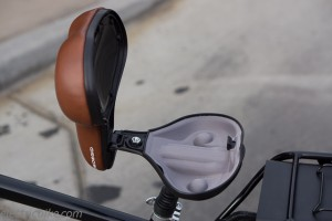 Bike Seat with Hidden Stash Spot