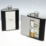 Flask with Hidden Cigarette Compartment