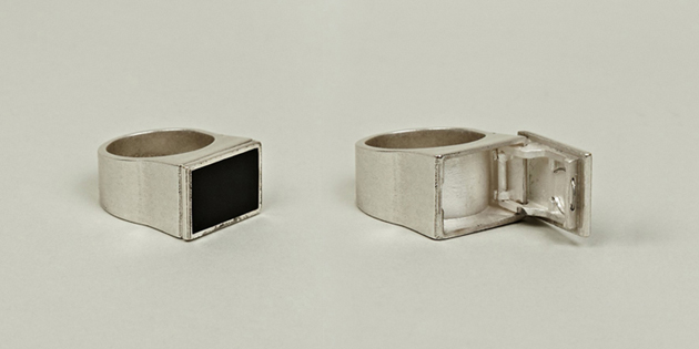 Ring with Hidden Stash Compartment
