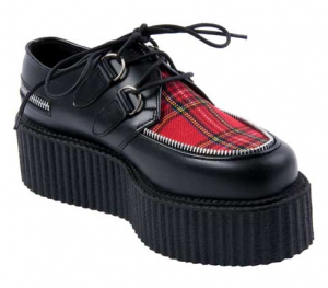 Raised Platform Shoe with Hidden Compartment in Sole