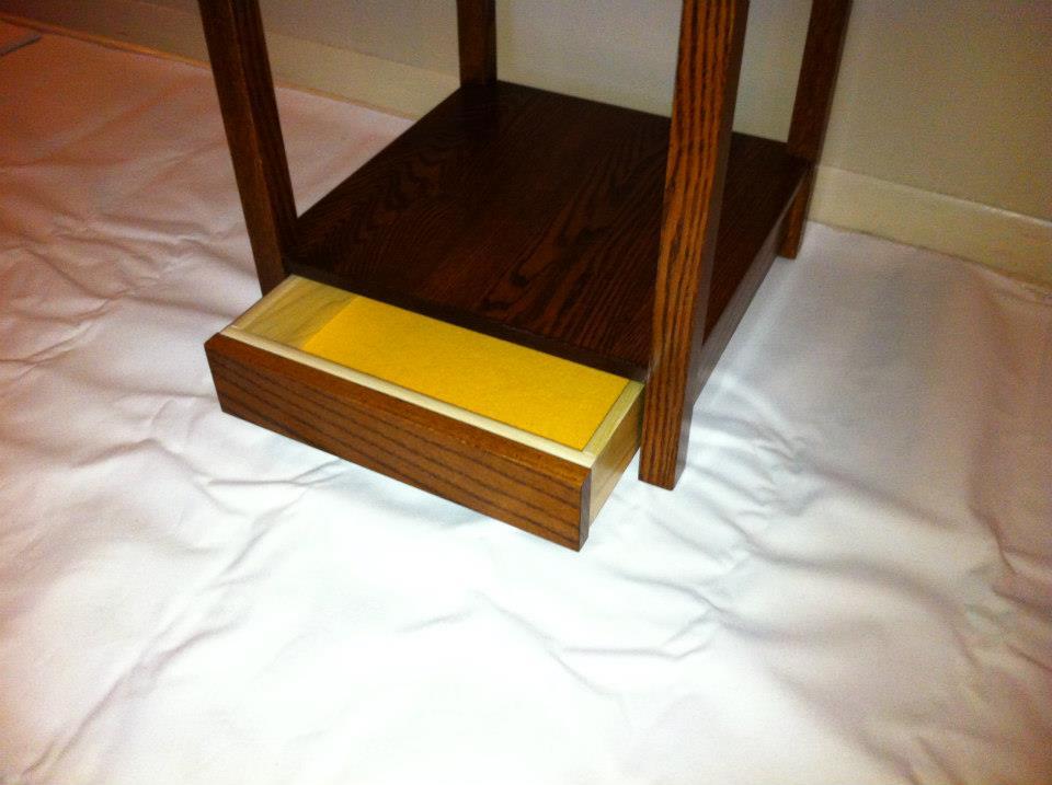 Hidden Stash Drawer Under Coat Rack
