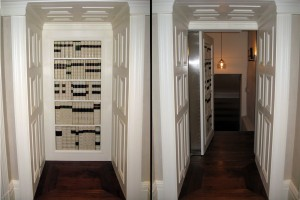 Hidden Room Concealed by Moving Bookcase