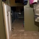 Door to Hidden Room in Closet